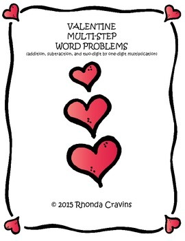 Valentine Multi-Step Word Problems