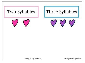 Valentine Multi-syllable Hearts