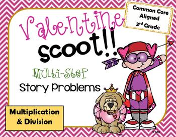 Valentine Multiplcation & Division Scoot