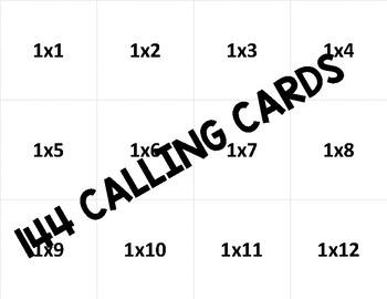 Valentine Multiplication Bingo