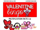 Valentine Multiplication Bingo