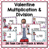 Valentine Multiplication & Division Task Card Bundle
