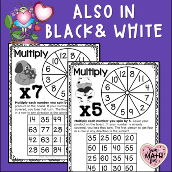 Valentine Multiplication Facts Games (2's to 12's) - Build Fact Fluency!