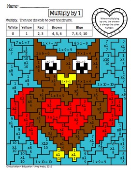 Valentine Multiplication Mystery Pictures