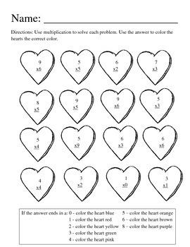 Valentine Multiplication Pack