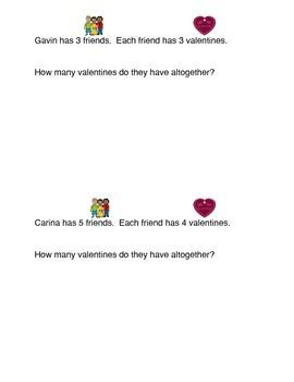 Valentine Multiplication Problems
