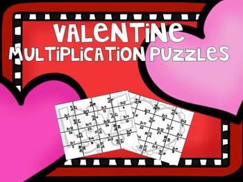 Valentine Multiplication Puzzles