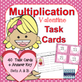 Valentine's Day Math: Multiplication Task Cards - No Regrouping