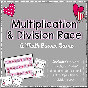 Multiplication and Division Facts: Board Game (Hearts)