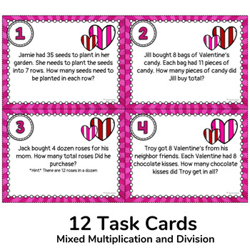Valentine's Day Multiplication and Division Pack (for Lower Grades)