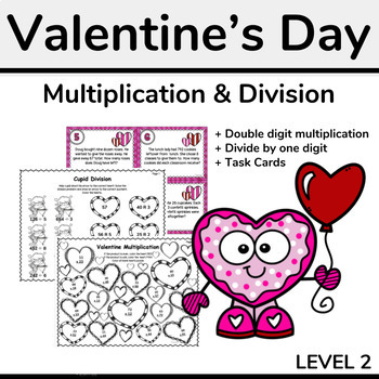 Valentine's Day Multiplication and Long Division Pack (for Upper Grades)