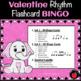 Valentine Music Games: Rhythm Flashcard Bingo Game Valentine Music Activity