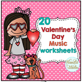 Valentine Music Worksheets