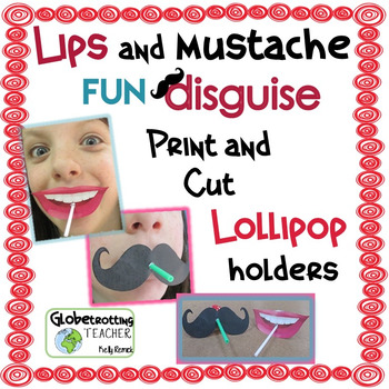 Mustache and Lips Lollipop Disguise (for Valentine's Day a