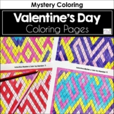 Valentine Mystery Coloring Activity