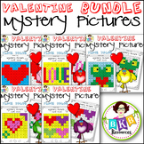 Valentine● Mystery Picture 1-5 BUNDLE ● Hundreds Chart ● P