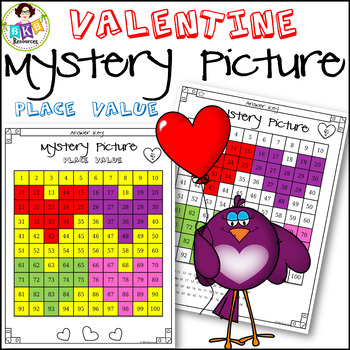 Valentine● Mystery Picture 4 ● Hundreds Chart ● Place Value