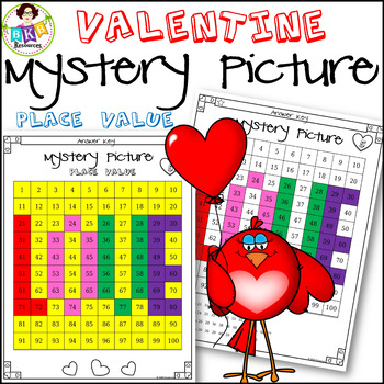 Valentine● Mystery Picture 5 ● Hundreds Chart ● Place Value