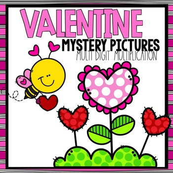 Valentine Mystery Pictures -- Multi-Digit Multiplication