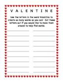 Valentine Mystery Word