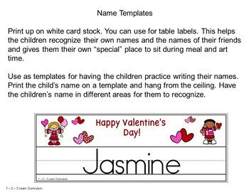 Valentine Name Templates