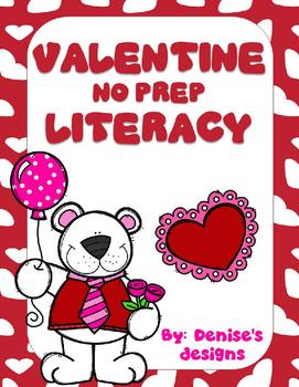 Valentine No Prep Literacy