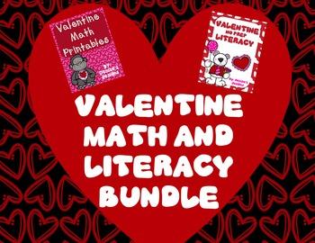 Valentine No Prep Math & Literacy
