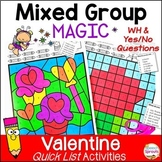 Speech Therapy Valentine's Day Activities with Yes-No & WH