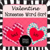 Valentine Nonsense Word Sort