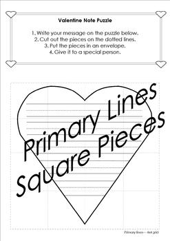Valentine's Day Card and Note Puzzles