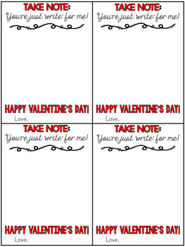 Valentine Notebook Gift Tag!