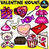 Valentine Nouns Clip Art Bundle {Educlips Clipart}