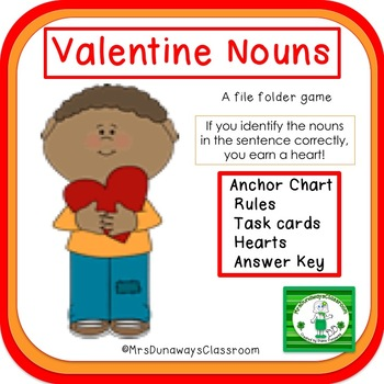 Valentine Nouns:  a file folder game