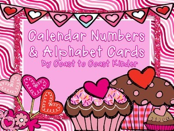 Valentine Number & Alphabet Cards