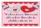 Valentine's Day Number Bonds & Addends Donut Math Centers