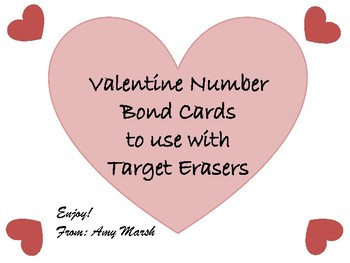 Valentine Number Bond Cards