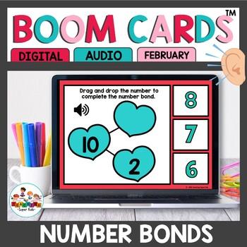 Number Bonds Boom Cards Valentine Themed