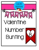 Valentine Number Bunting