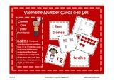 Valentine Number Cards 1-31, Place Value, Ten Frames, Number Words, Tally