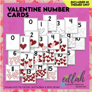 Valentine Number Cards