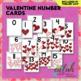 Valentine Number Cards - Full Color Version and Black & White Version