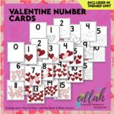 Valentine Number Cards - Full Color Version and Black & Wh
