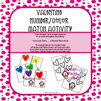 Valentine Number/Color Match
