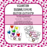 Valentine Number/Color Match