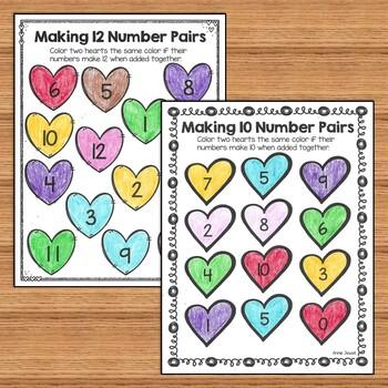 Valentine Kindergarten Math Activities and Worksheets for