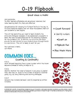 Valentine Number Flipbook 0-19