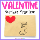 Valentine Number Formation Cards | Sand Tray Numbers | 0-20
