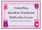Valentine Number Hunt Write the Room