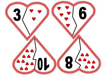Valentine Number Identification Puzzles