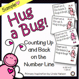 Valentine Number Line Addition and Subtraction Sample Freebie